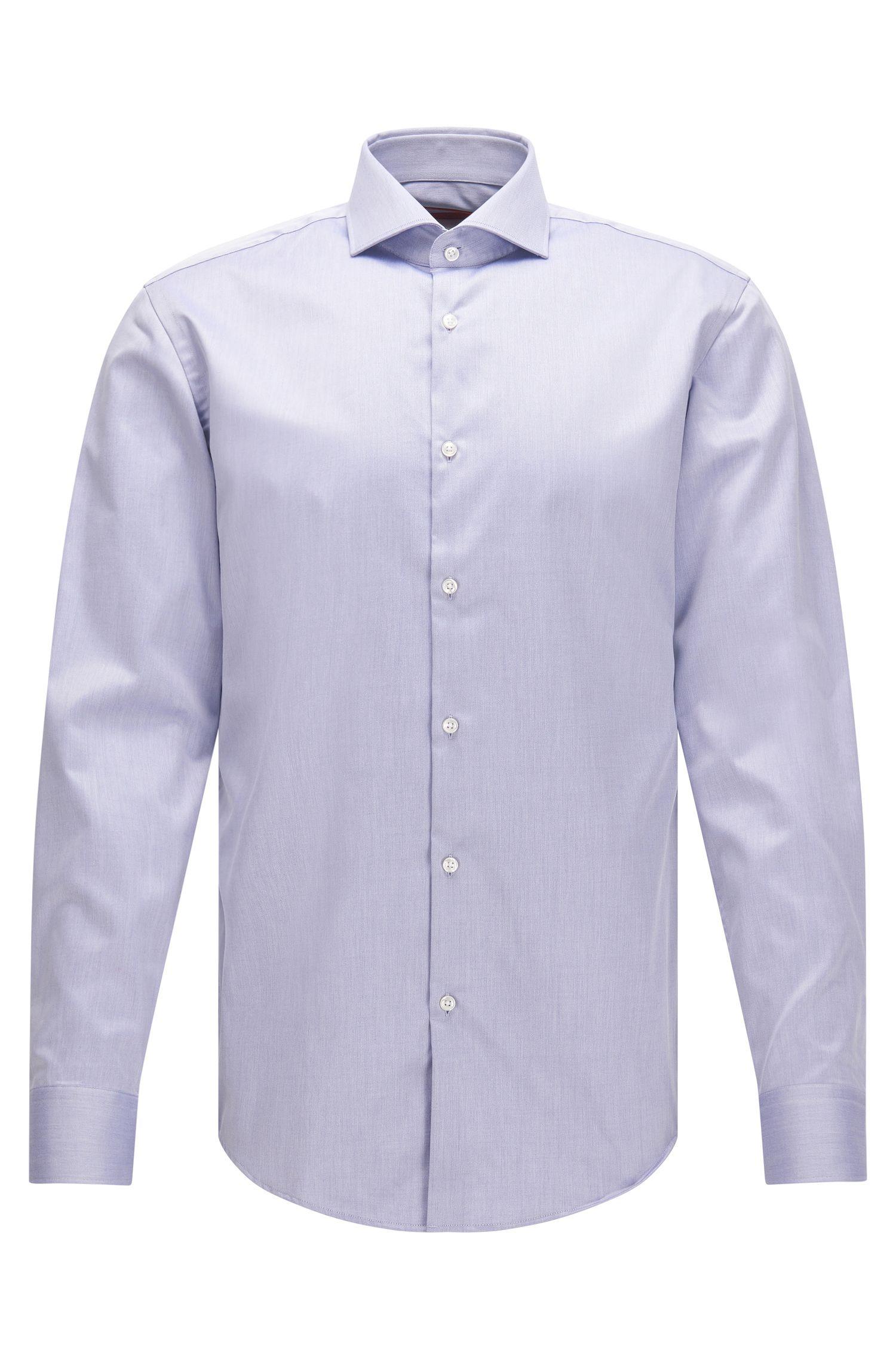 Easy Iron Cotton Poplin Shirt, Slim Fit | C-Jason