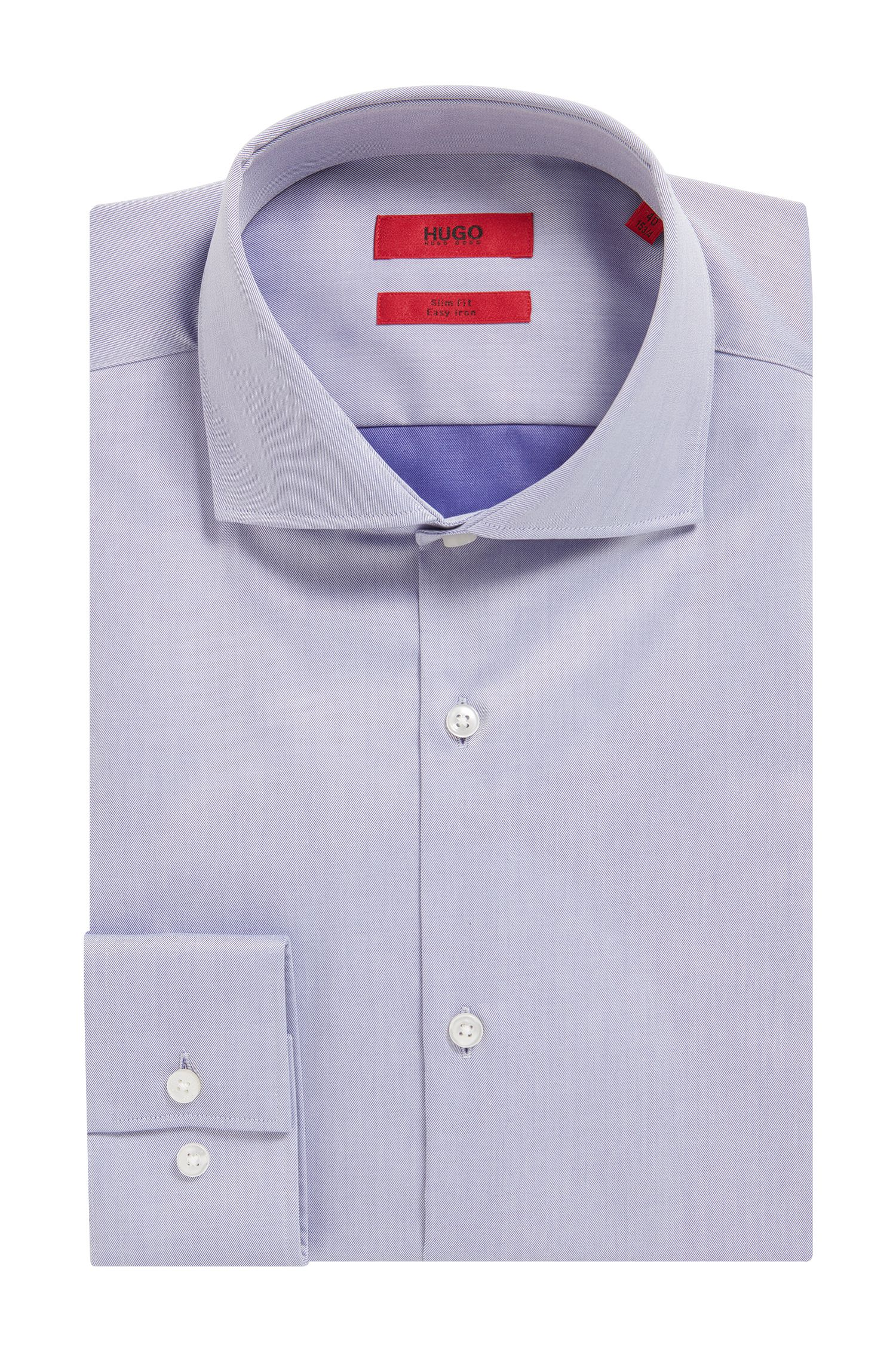 Easy Iron Cotton Poplin Shirt, Slim Fit | C-Jason
