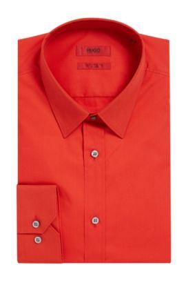 Stretch Cotton Dress Shirt, Slim Fit| Elisha, Red