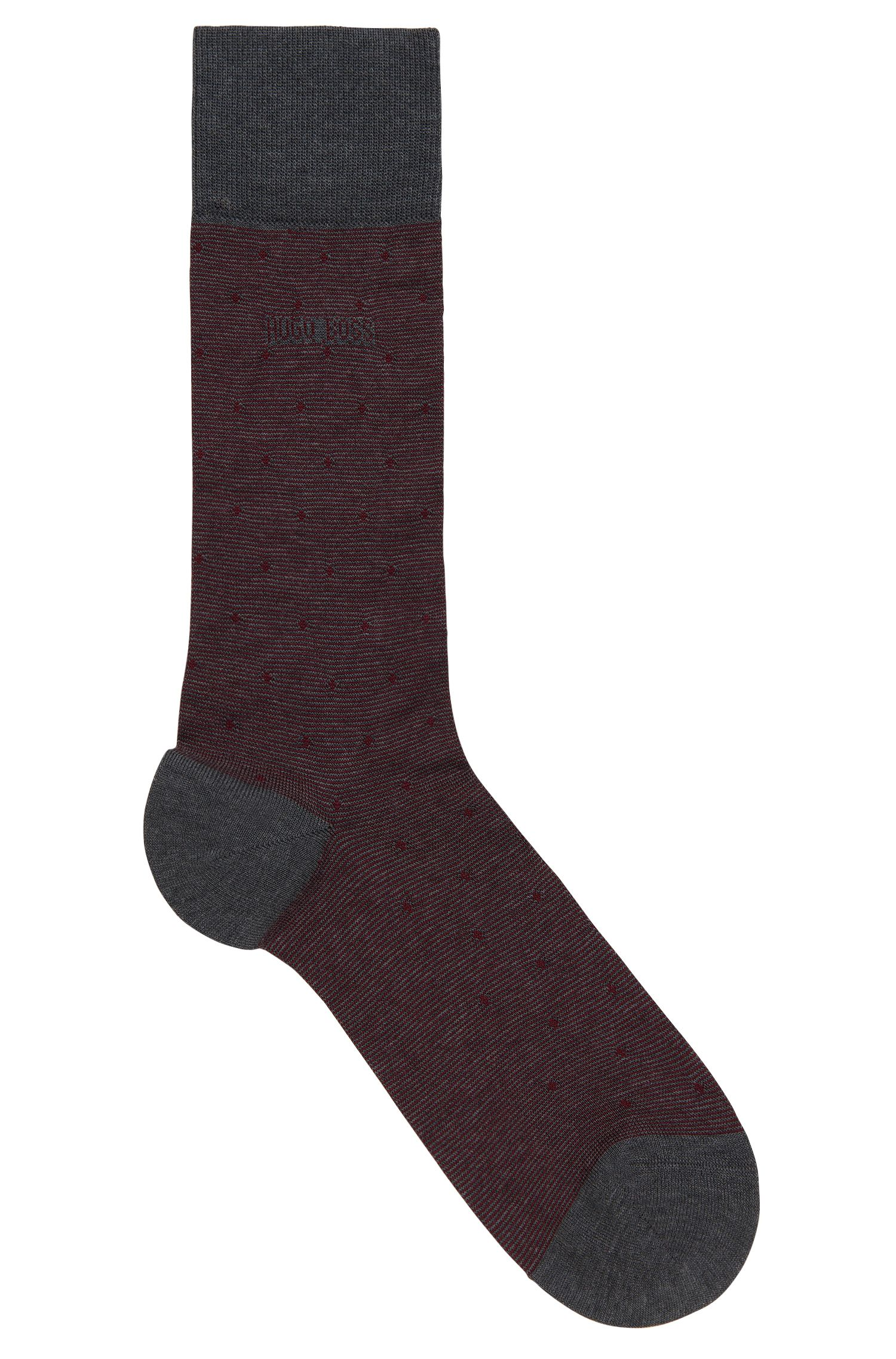'Paul Design Dots US' | Stretch Mercerized Cotton Blend Socks