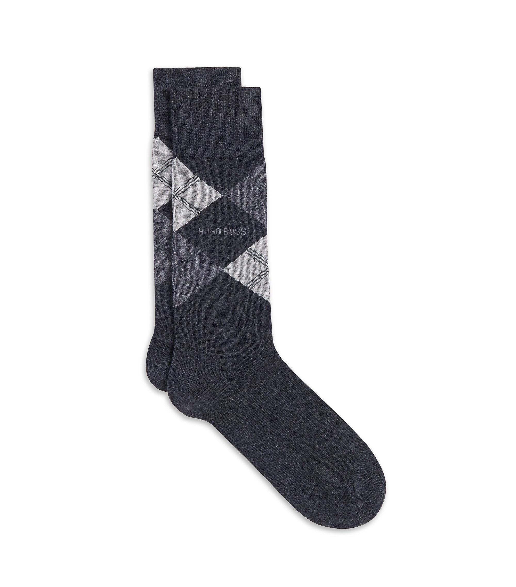 Stretch Cotton Blend Sock | James RS, Charcoal