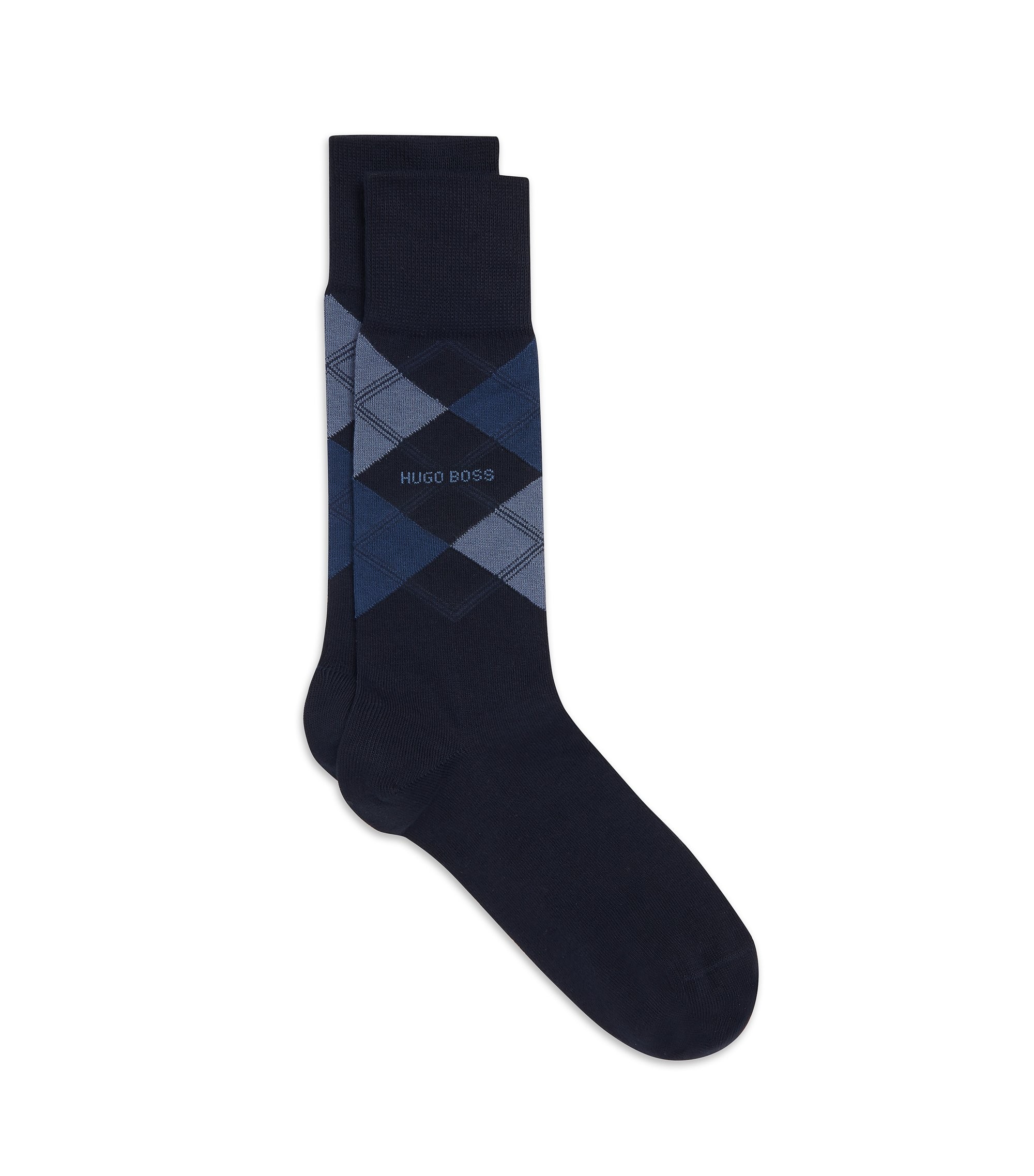 Stretch Cotton Blend Sock | James RS, Dark Blue