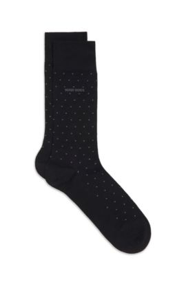 Stretch Mercerized Cotton Blend Sock | Frank RS Design US, Black