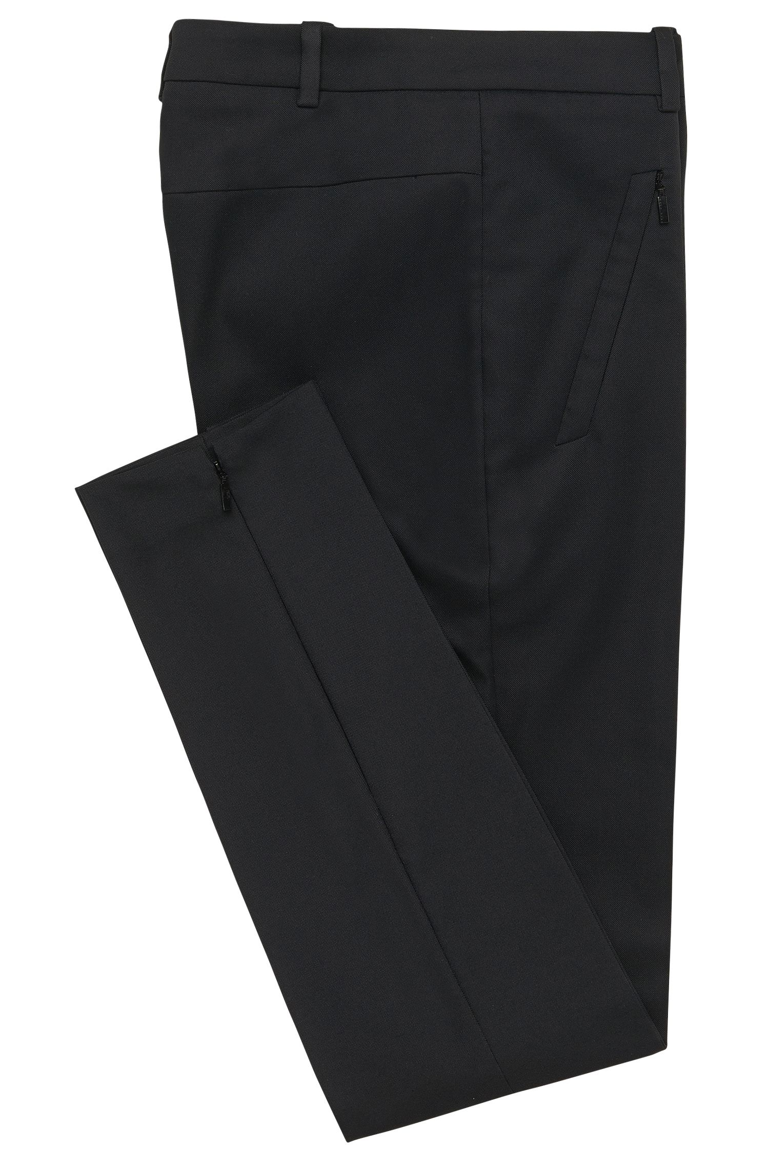Stretch Cotton Zip Pocket Pant | Anaita