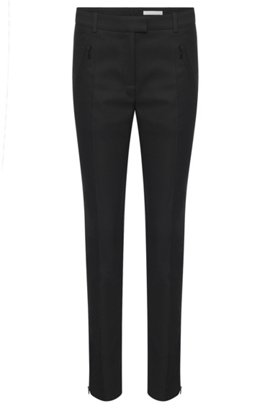 Stretch Cotton Zip Pocket Pant | Anaita, Black