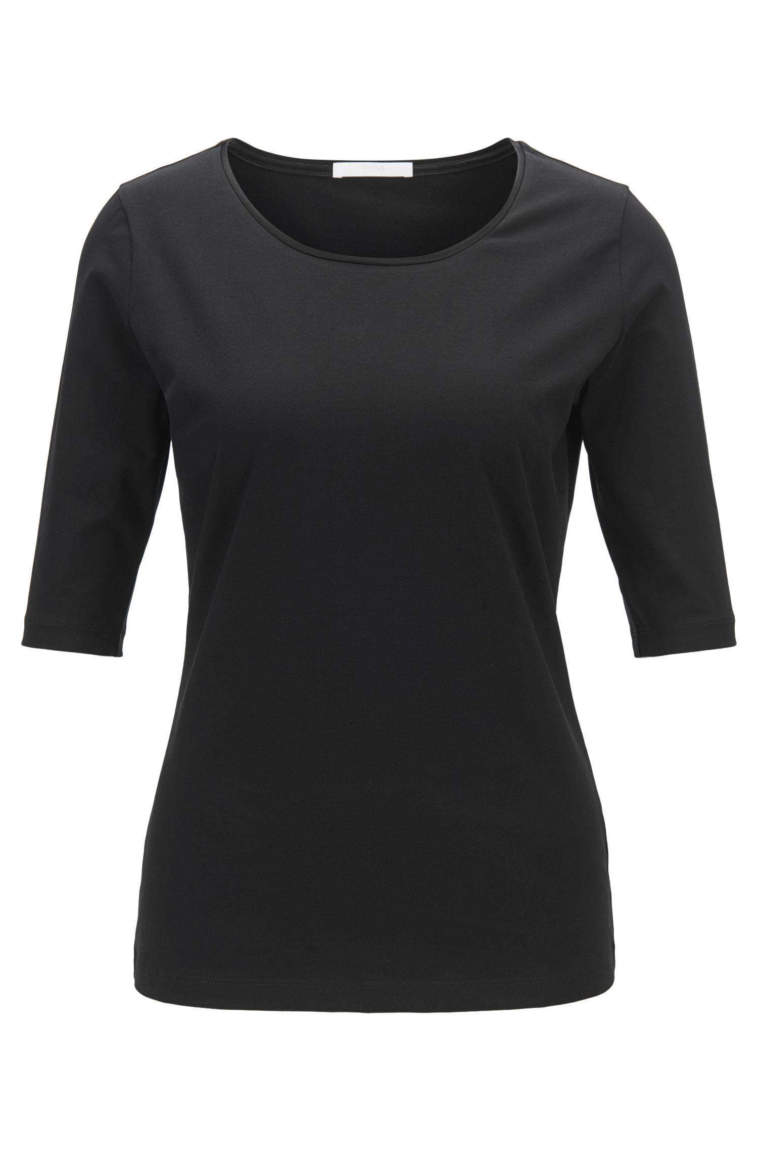 'Emmsi' | Stretch Cotton Jersey Blouse