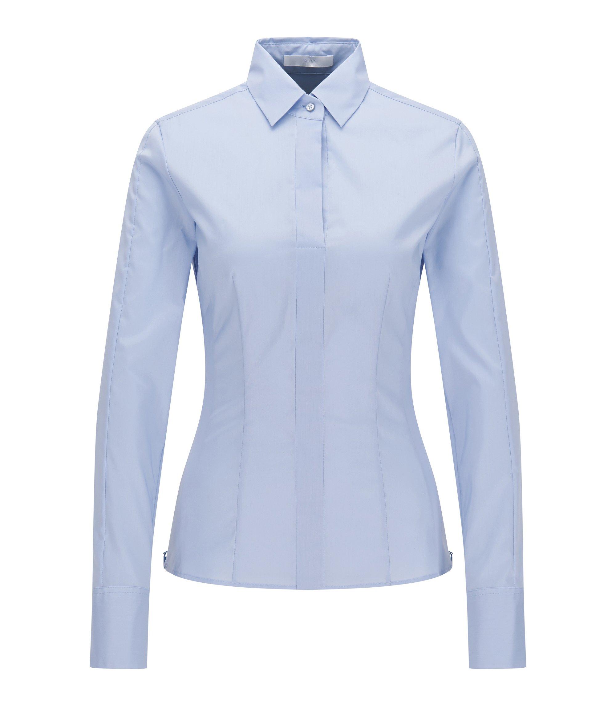 Cotton Blend Blouse | Bashina, Light Blue