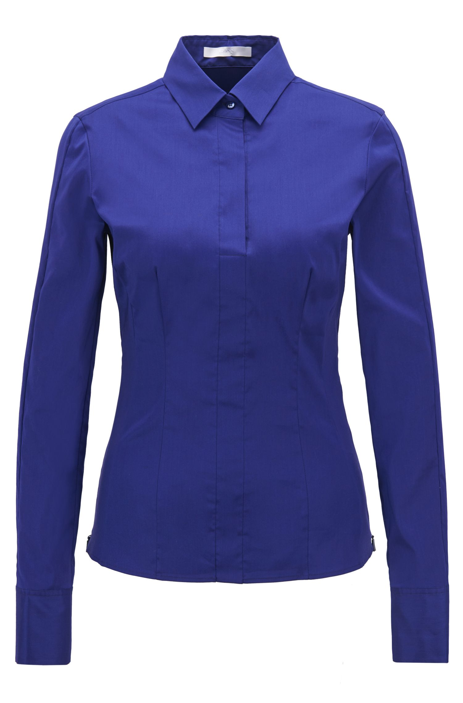 Slim-fit blouse with darted seam detail
