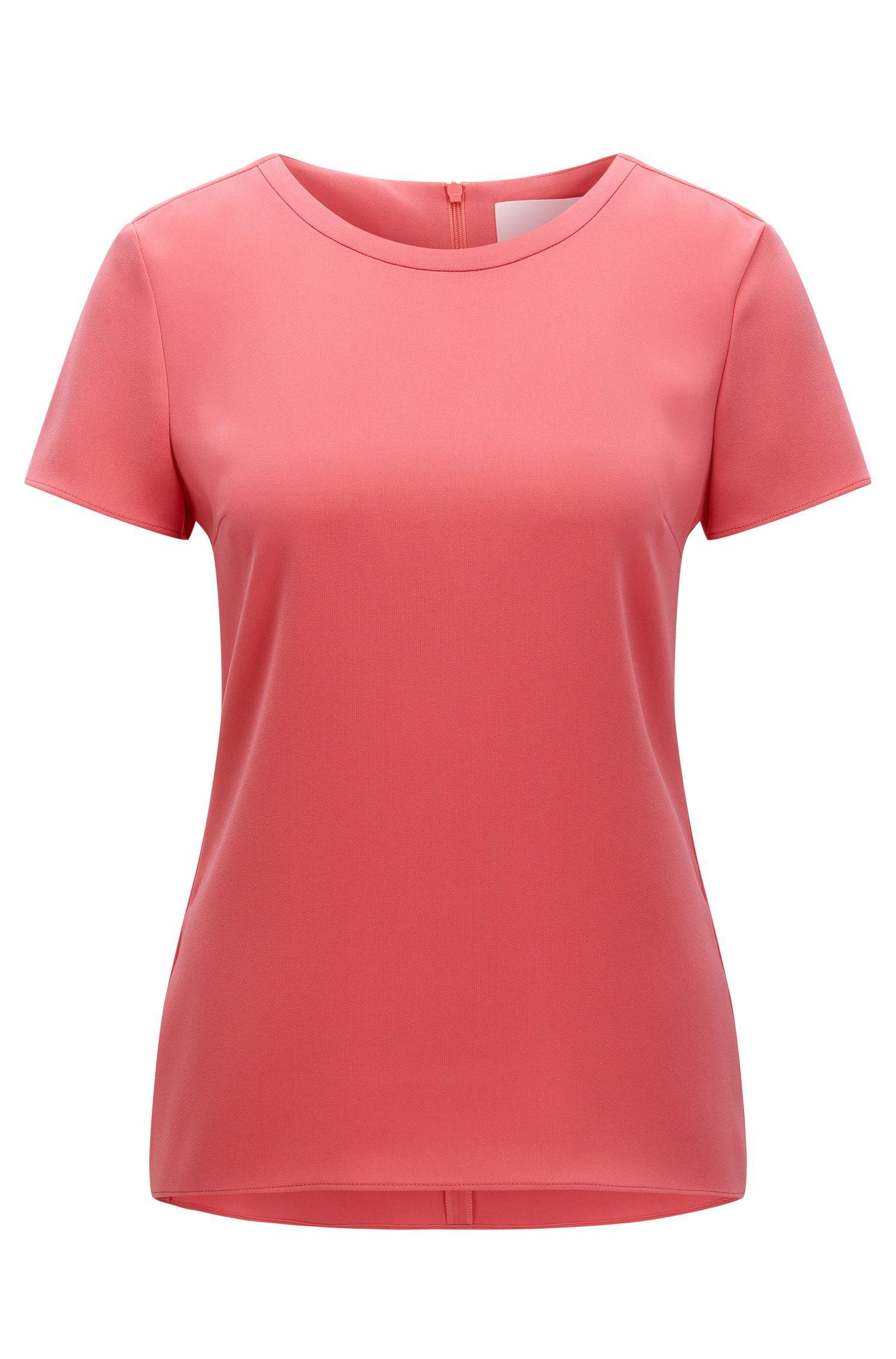 Crepe Short Sleeved Blouse | Ilyna, Light Red