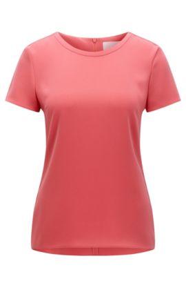 'Ilyna' | Crepe Short Sleeved Blouse, Light Red
