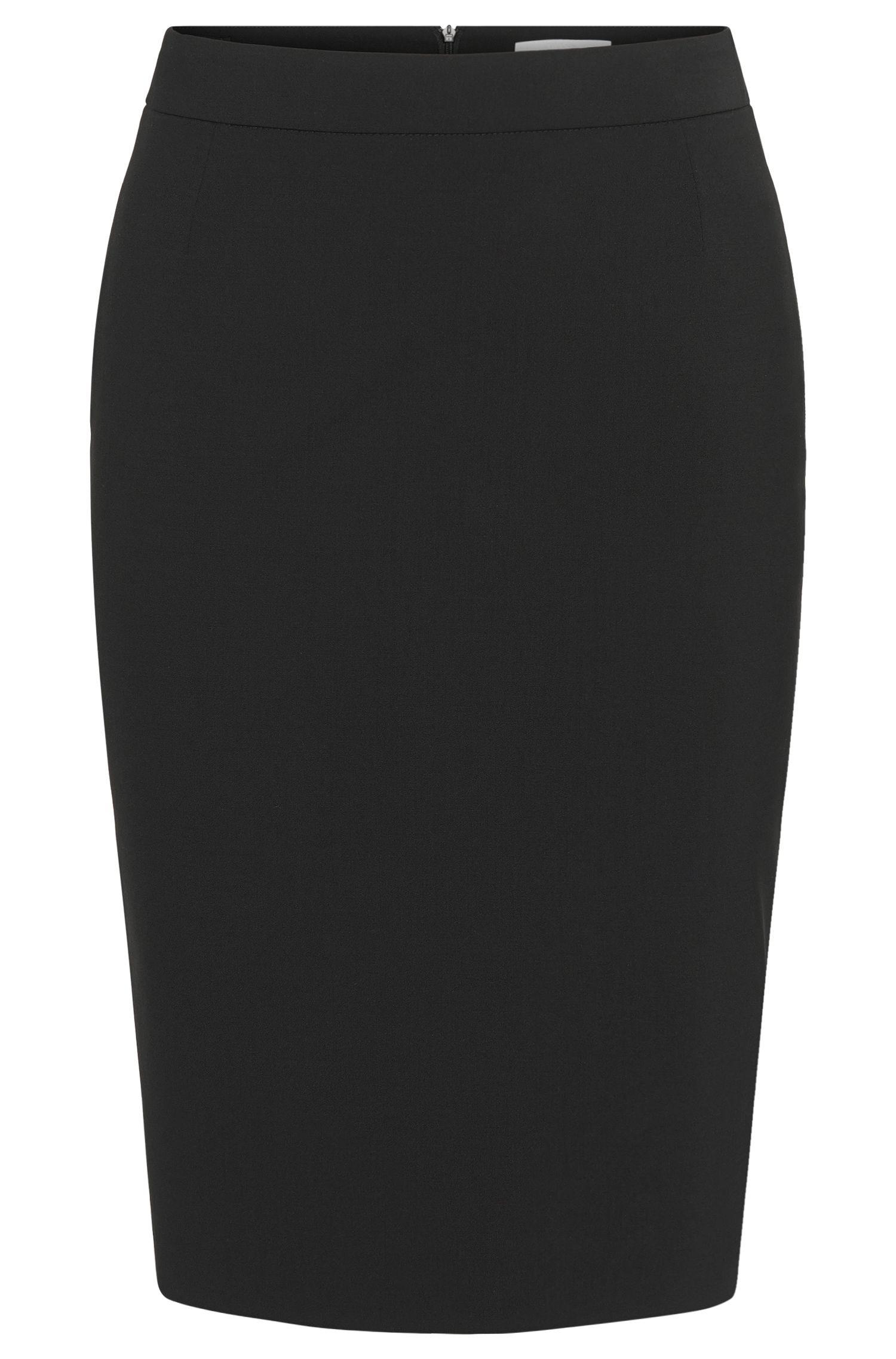 'Vilea'   Stretch Virgin Wool Pencil Skirt