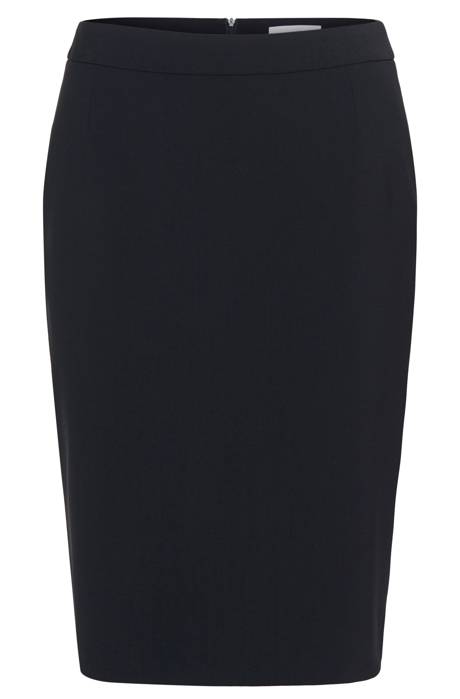'Vilea' | Stretch Virgin Wool Pencil Skirt