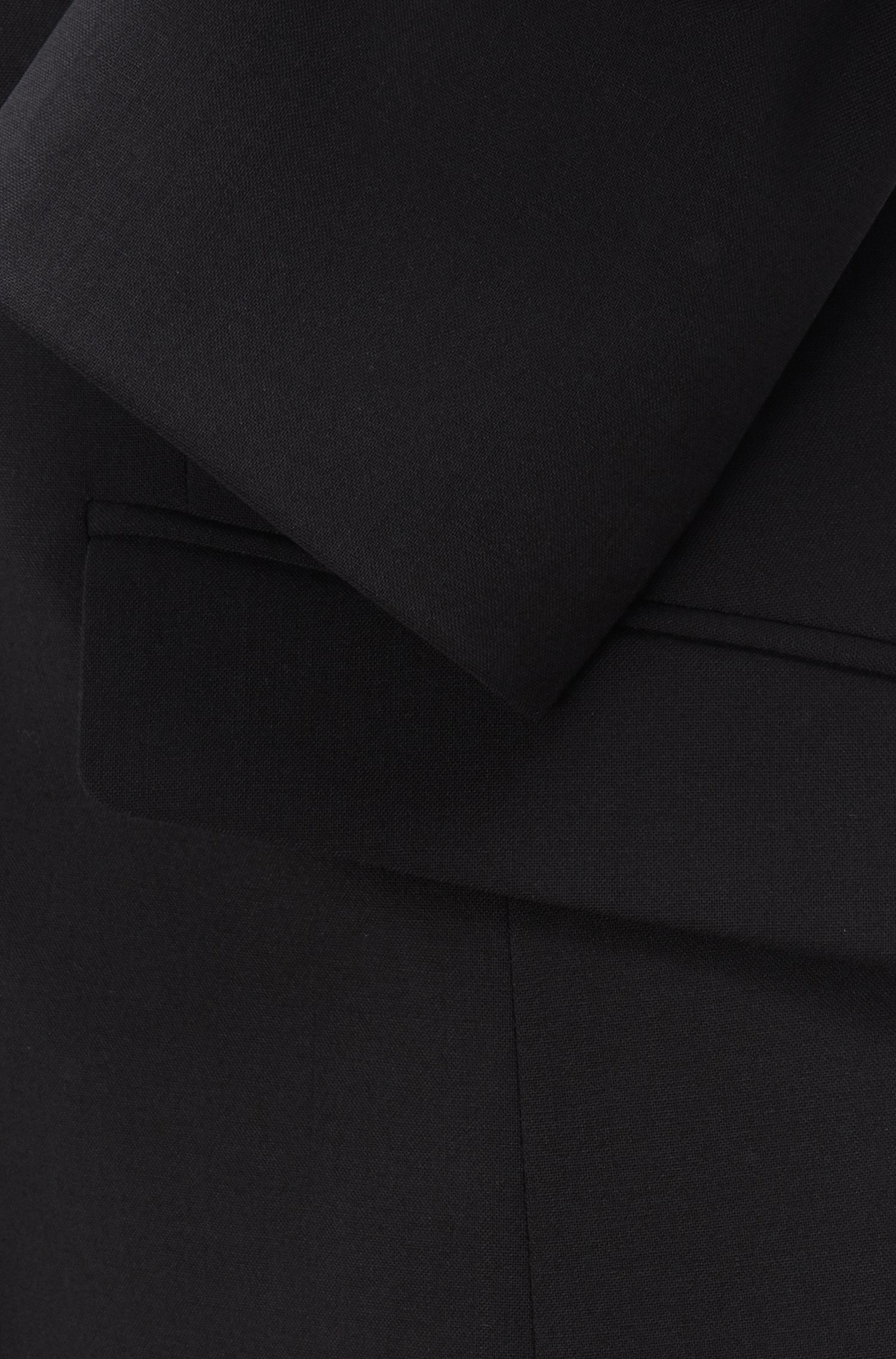 Stretch Virgin Wool Jacket   Julea, Black