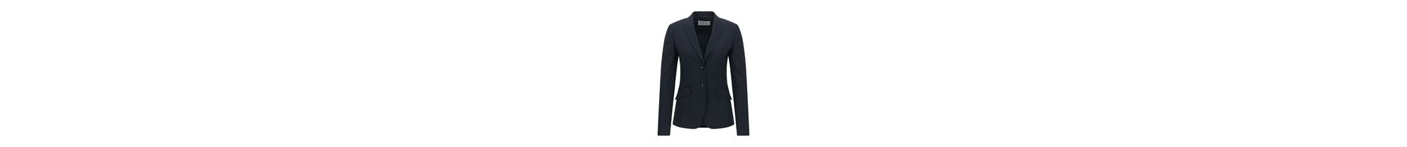 Stretch Virgin Wool Jacket | Julea, Open Blue