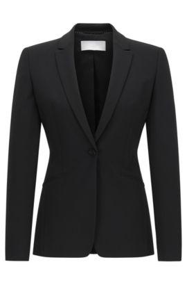'Jabina' | Stretch Virgin Wool Blazer, Black