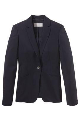 'Jabina' | Stretch Virgin Wool Blazer, Open Blue