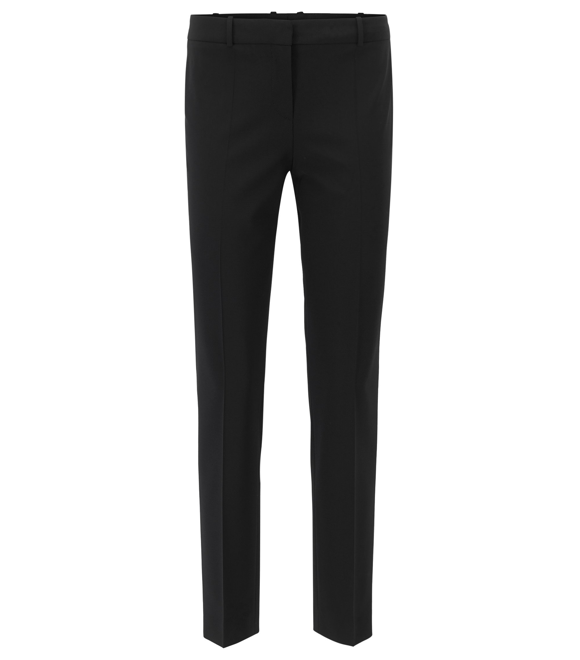 Stretch Virgin Wool Dress Pant | Tiluna, Black
