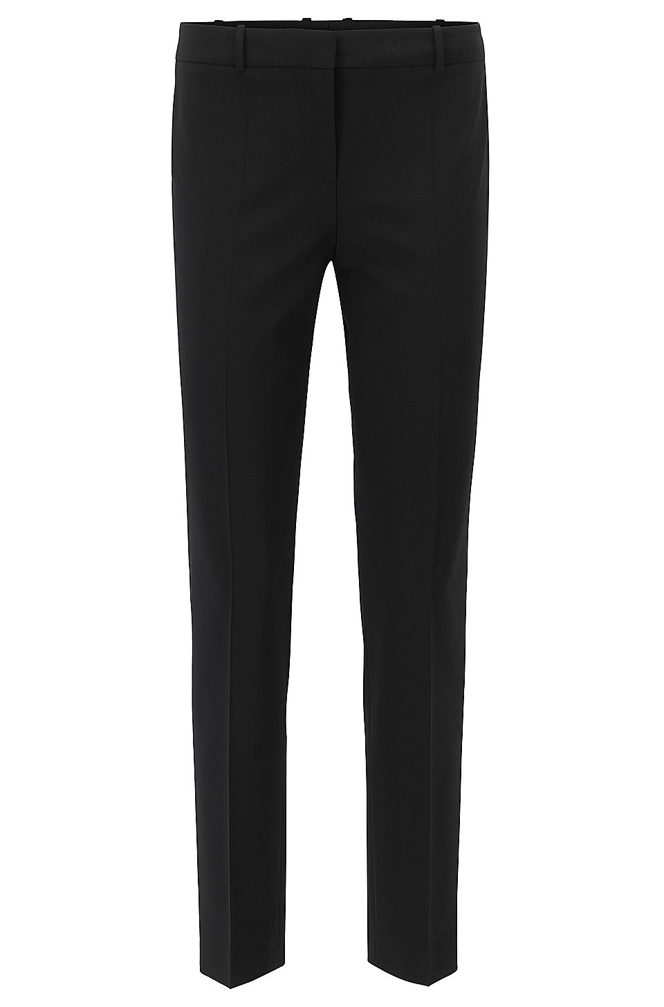 Pinstripe virgin wool trousers in a tapered fit HUGO BOSS