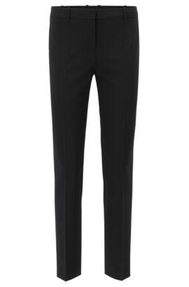 'Tiluna' | Stretch Virgin Wool Dress Pants, Black