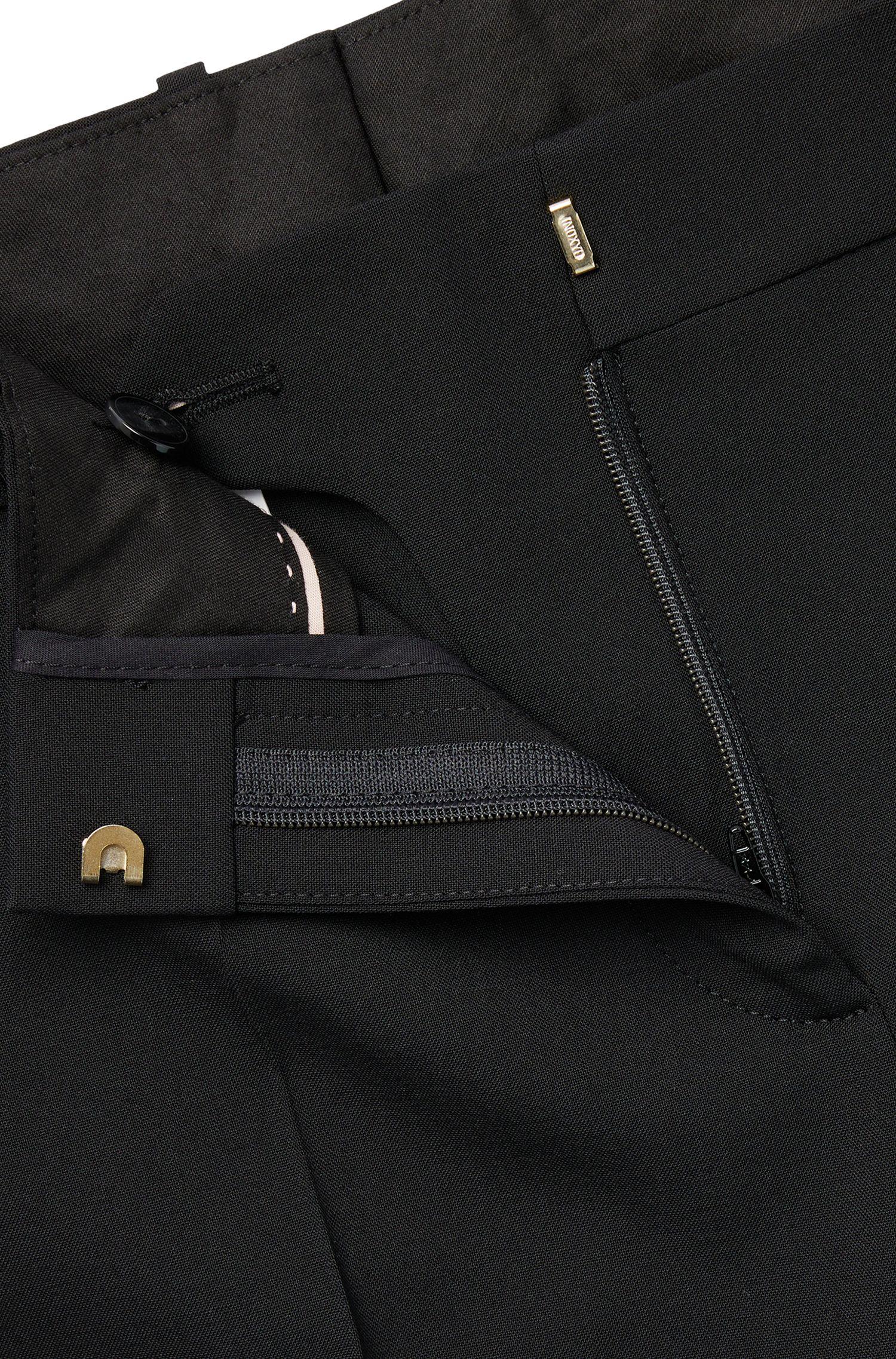 Stretch Virgin Wool Dress Pant | Tiluna, Black
