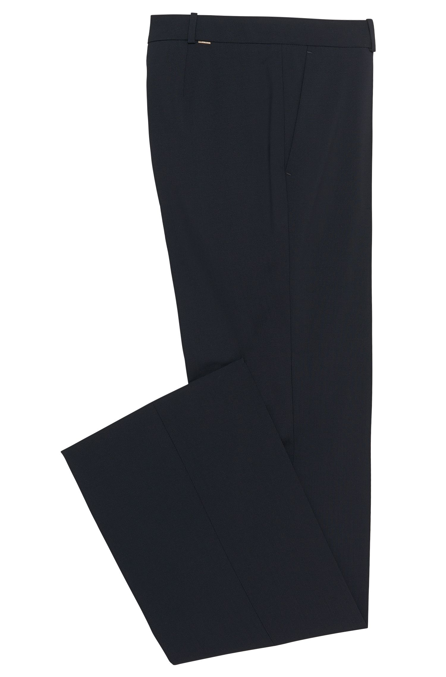 Stretch Virgin Wool Boot Cut Dress Pant | Tulea