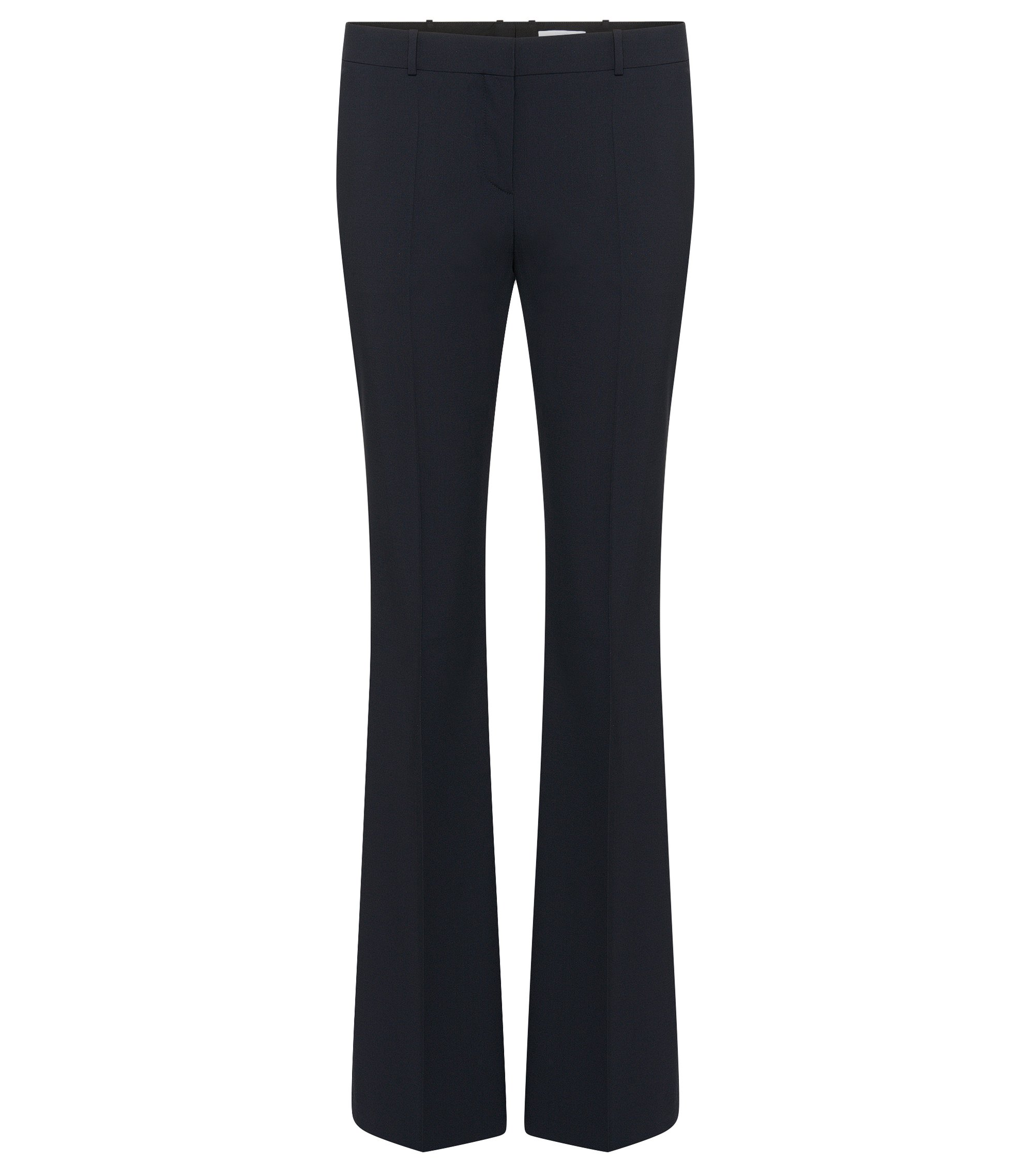 Stretch Virgin Wool Boot Cut Dress Pant | Tulea, Open Blue