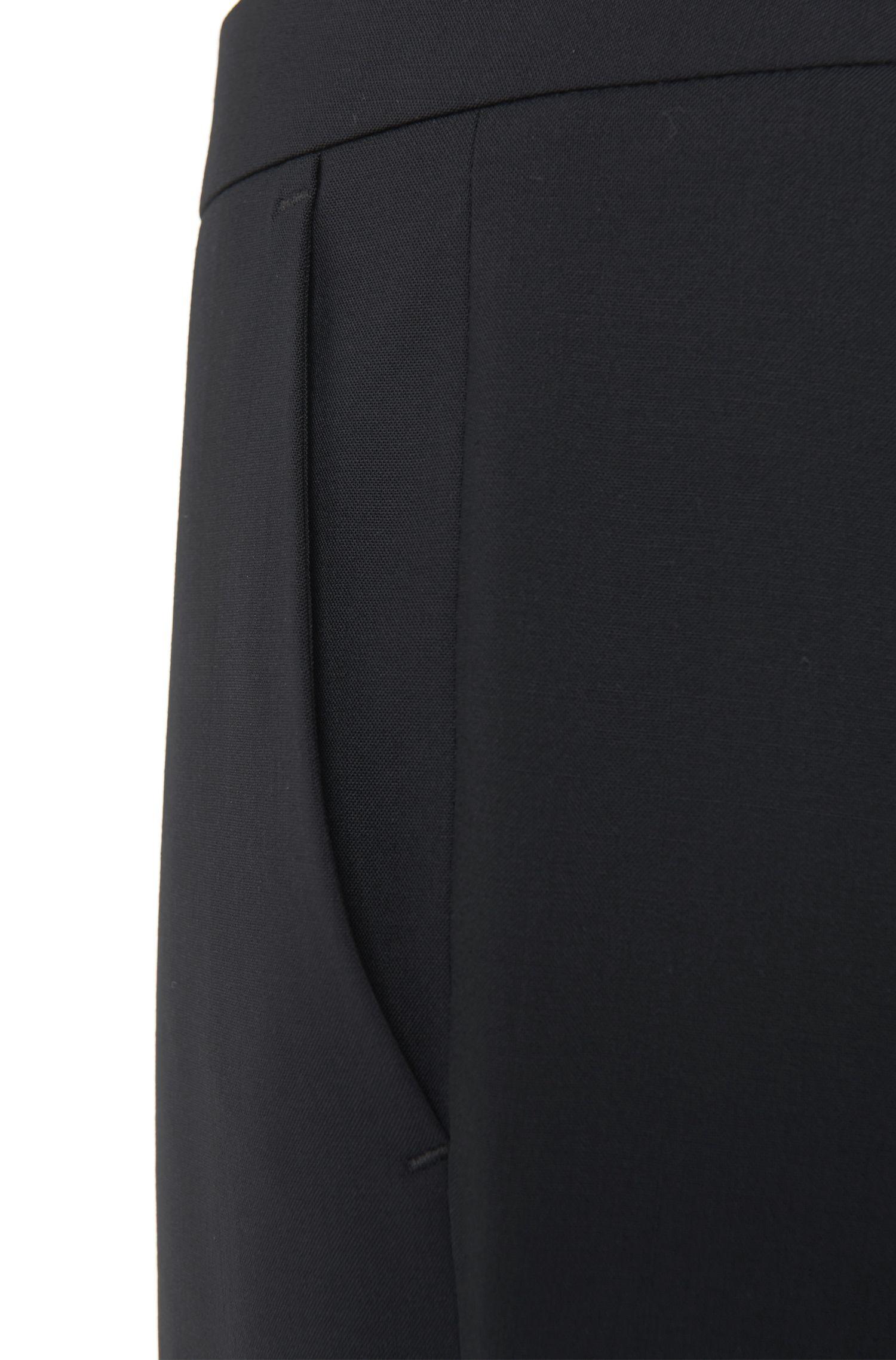 Stretch Virgin Wool Boot Cut Dress Pant   Tulea, Open Blue