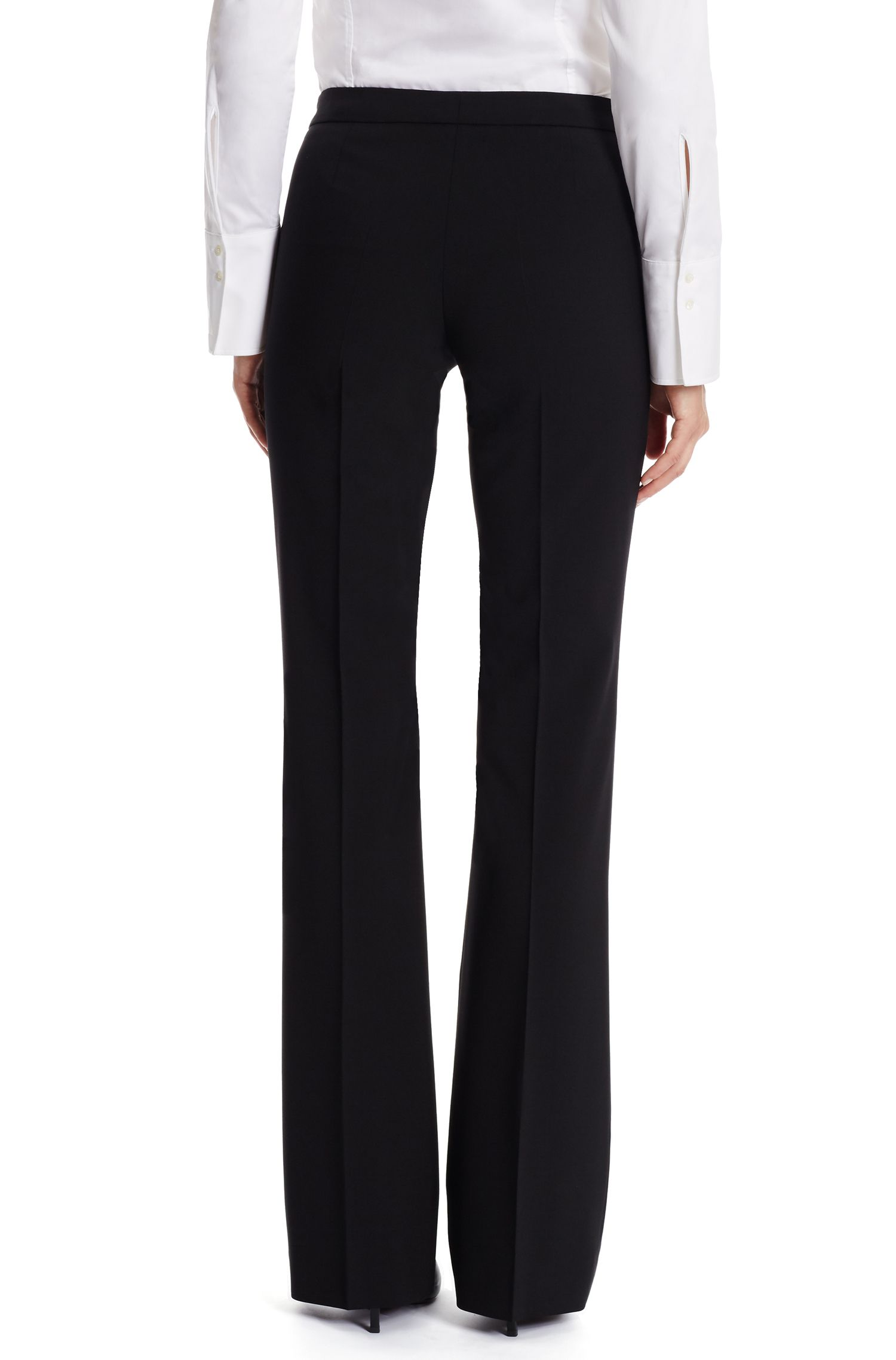 'Tulea Side Zip' | Stretch Virgin Wool Dress Pants