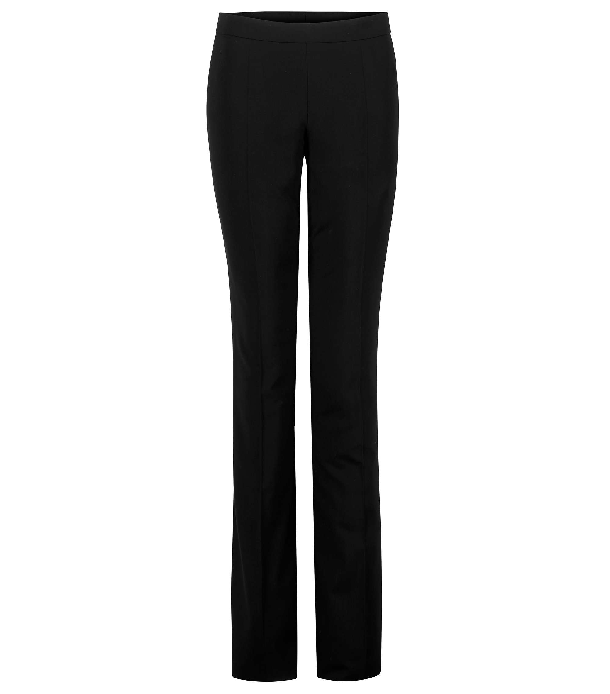 'Tulea Side Zip' | Stretch Virgin Wool Dress Pants, Black