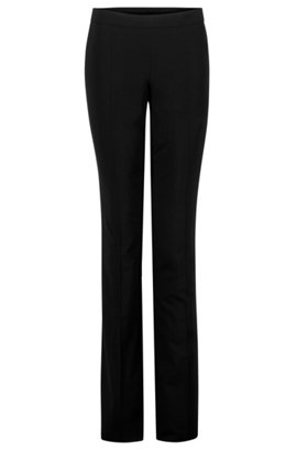Pantalon Slim Dans Le Patron De Laine Vierge Extensible oKu3VB