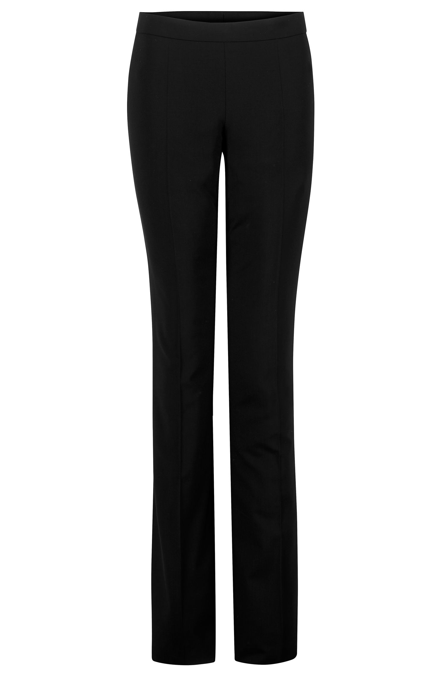 Boss by Hugo Boss Virgin Wool Mid-Rise Pants