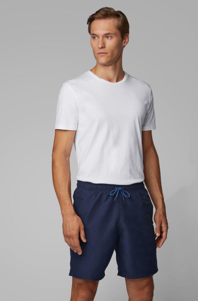 Quick-drying swim shorts with tonal logo