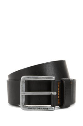 'Jeek' | Leather Belt, Black