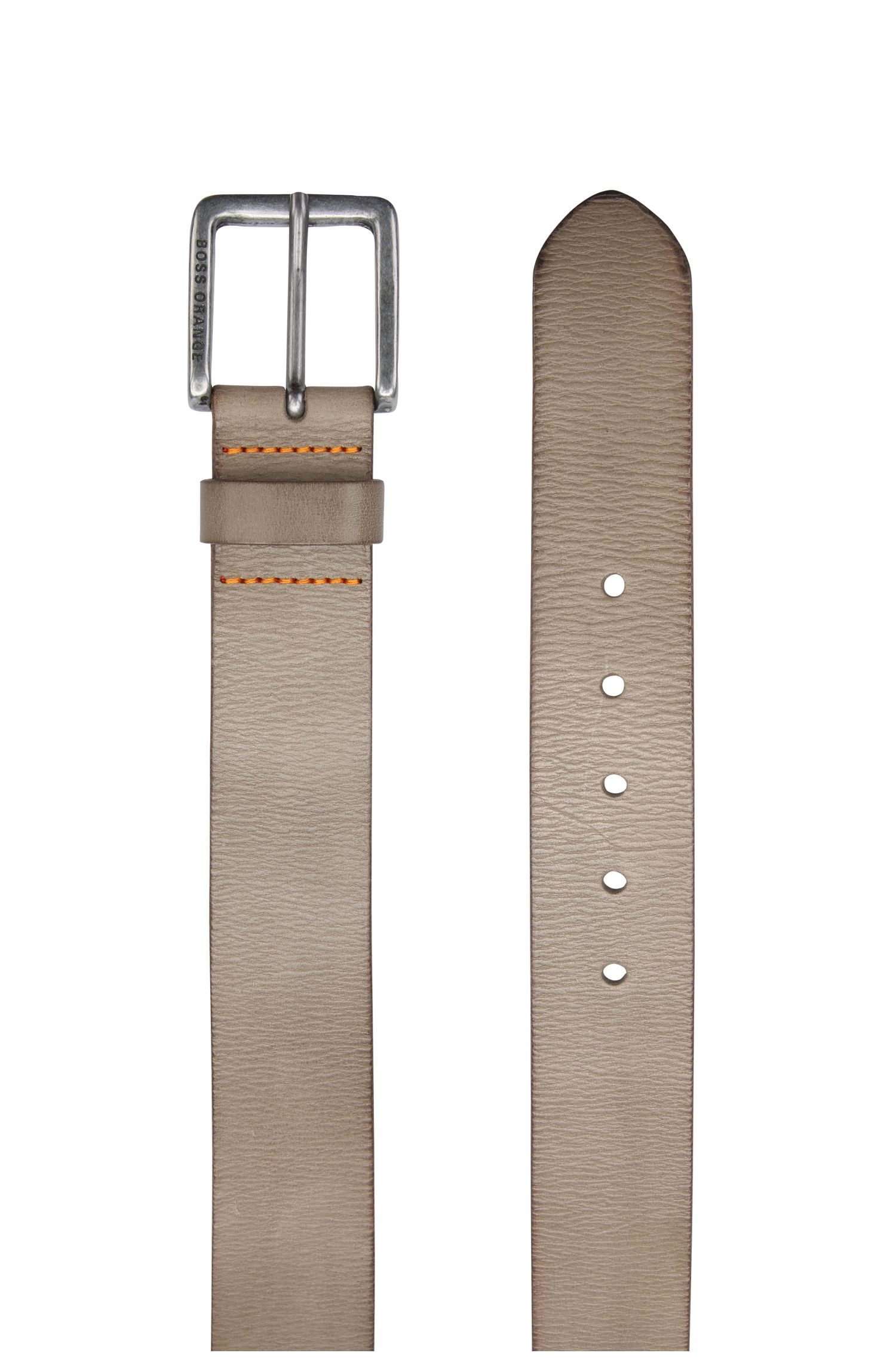 Leather Belt | Jeek, Grey