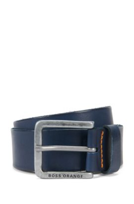 Leather Belt | Jeek, Dark Blue