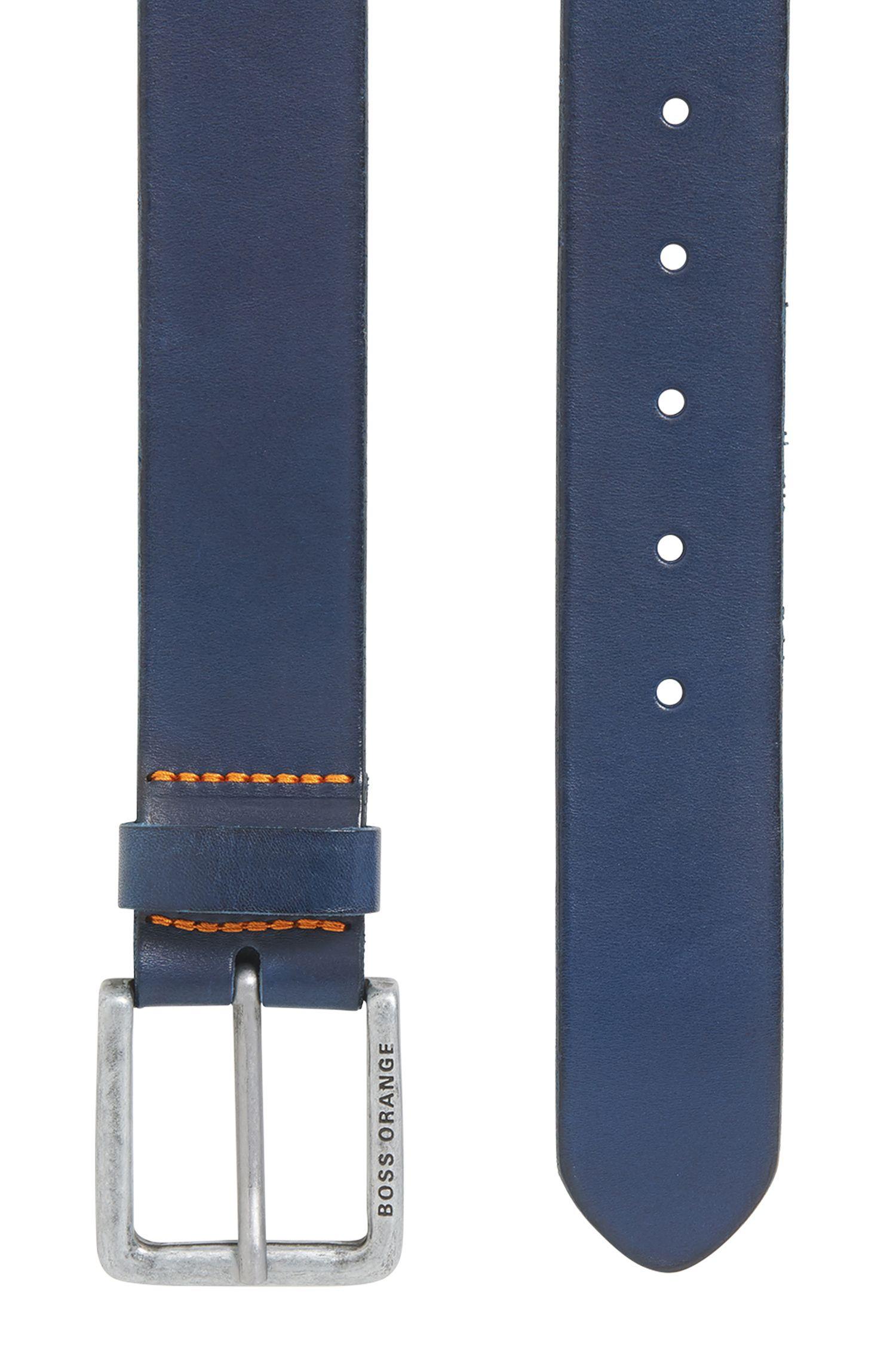Leather Belt | Jeek, Dark Blue