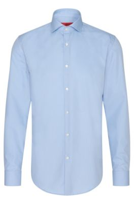 Cotton Dress Shirt, Light Blue
