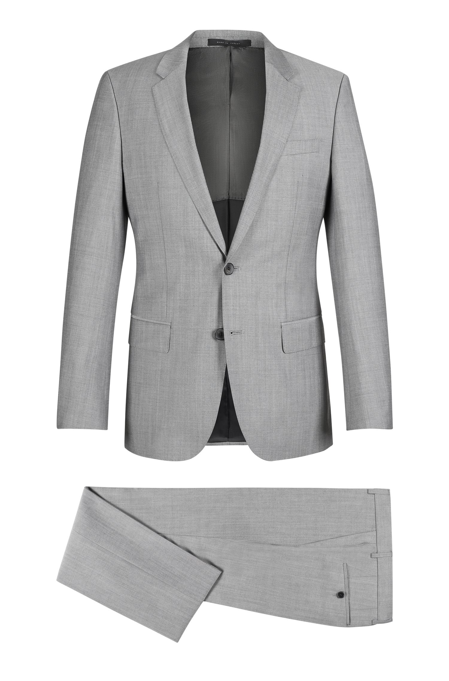 Italian Virgin Wool Suit, Slim Fit | Huge/Genius