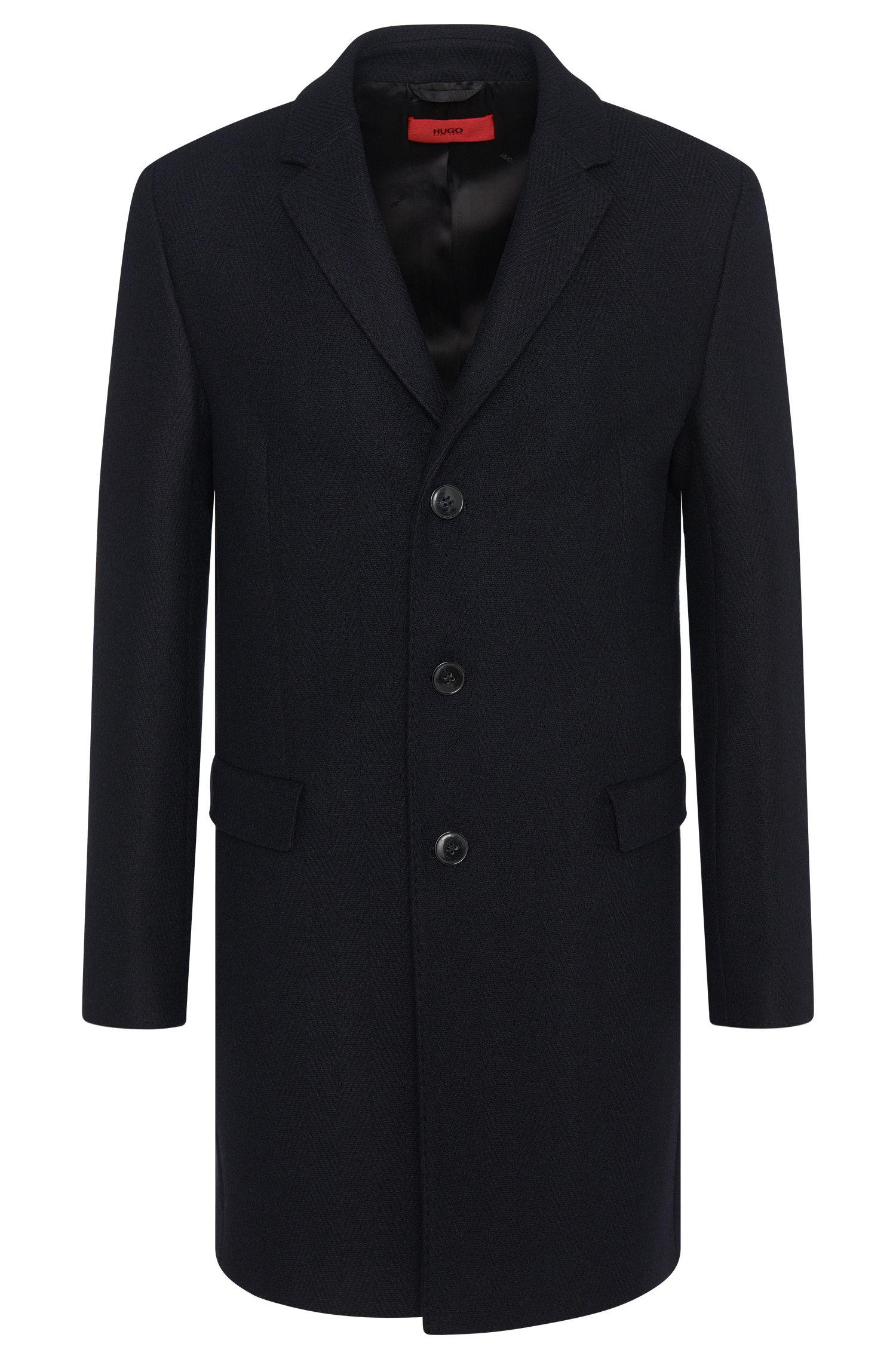 'Migor' | Herringbone Wool Blend Coat