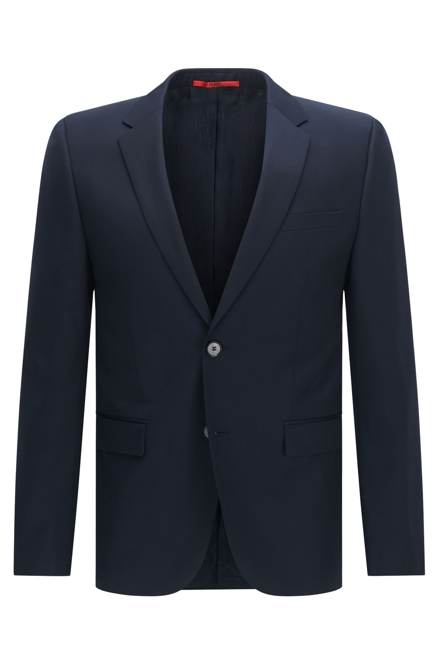 Virgin Wool Suit, Slim Fit | Aeron/Hamen, Dark Blue