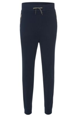 'Dawaro' | Cotton Jersey Lounge Pants, Dark Blue
