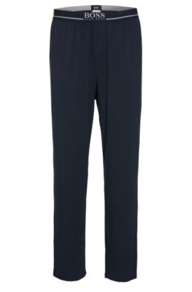 'Long Pant EW' | Stretch Modal Lounge Pants, Dark Blue