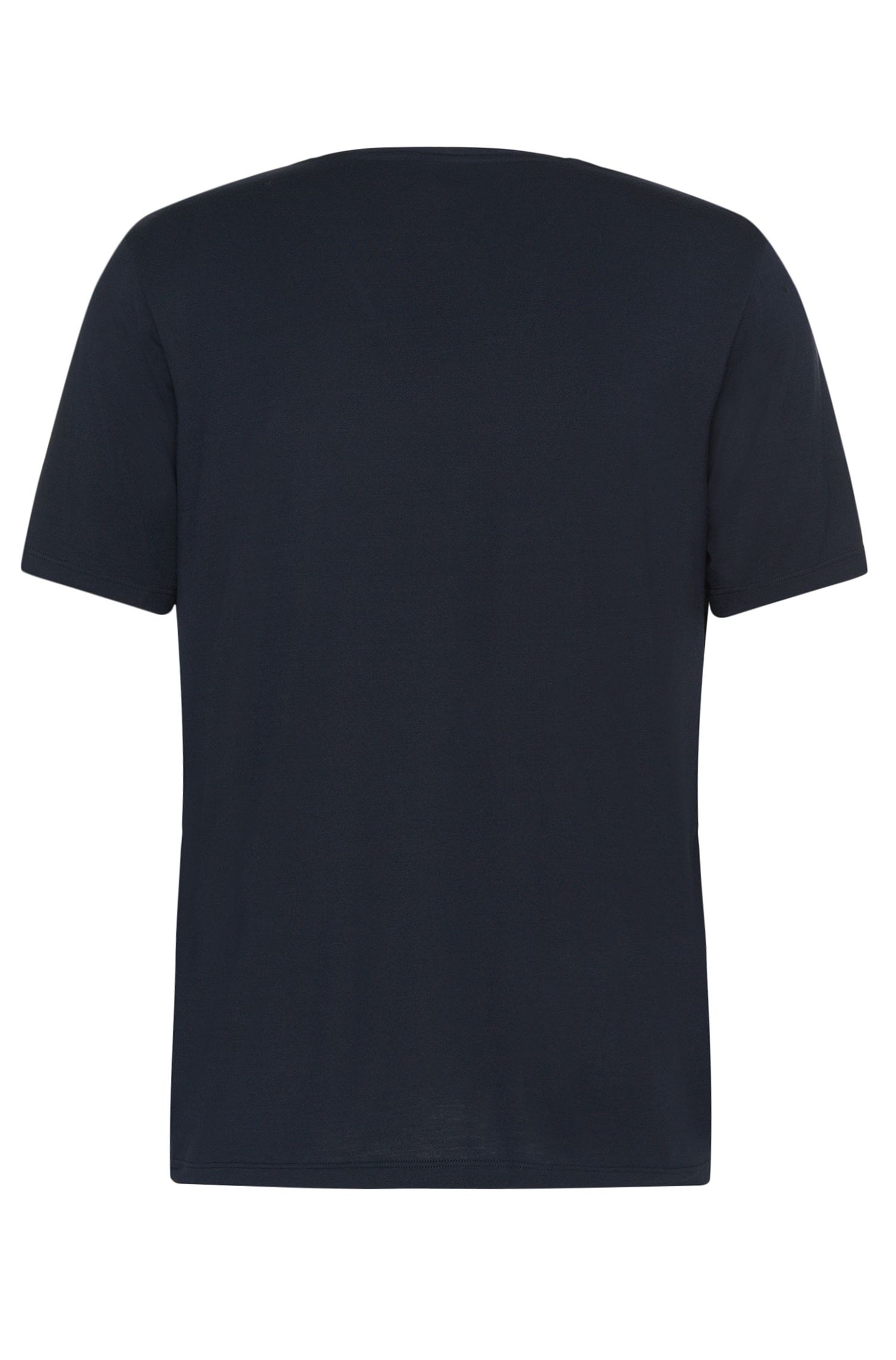 Stretch Modal V-Neck T-Shirt | Shirt VN SS, Dark Blue