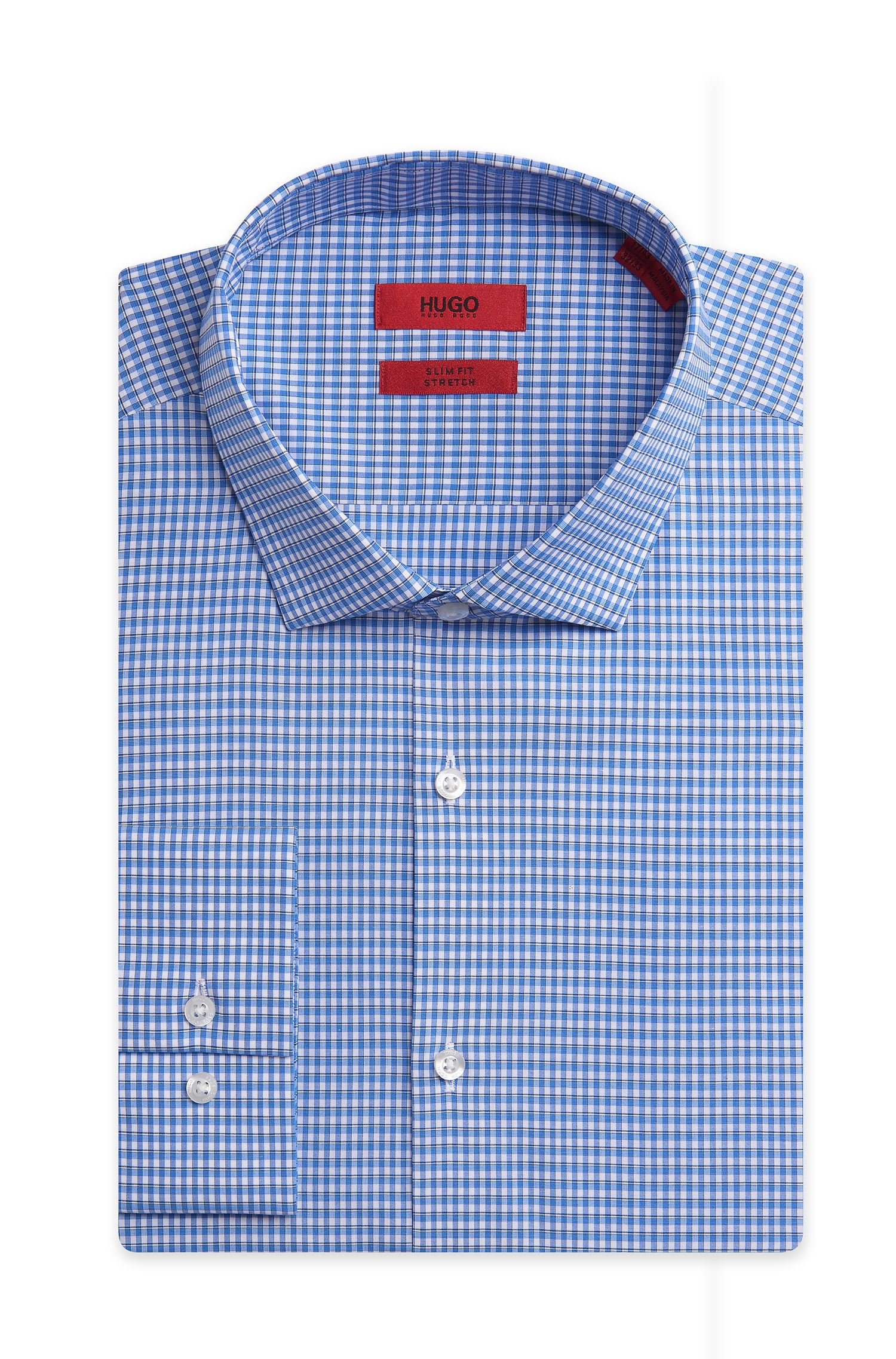 Stretch Cotton Dress Shirt, Slim Fit | EastonX