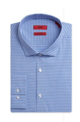 Stretch Cotton Dress Shirt, Slim Fit | EastonX, Blue