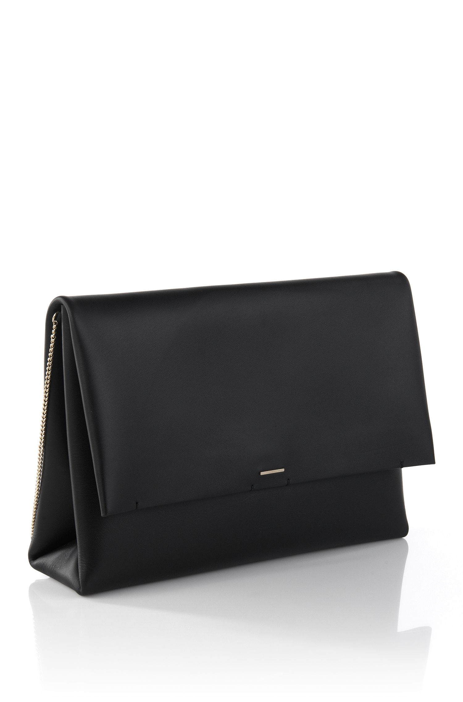 'Luxury Staple C' | Calfskin Clutch with Chain Strap