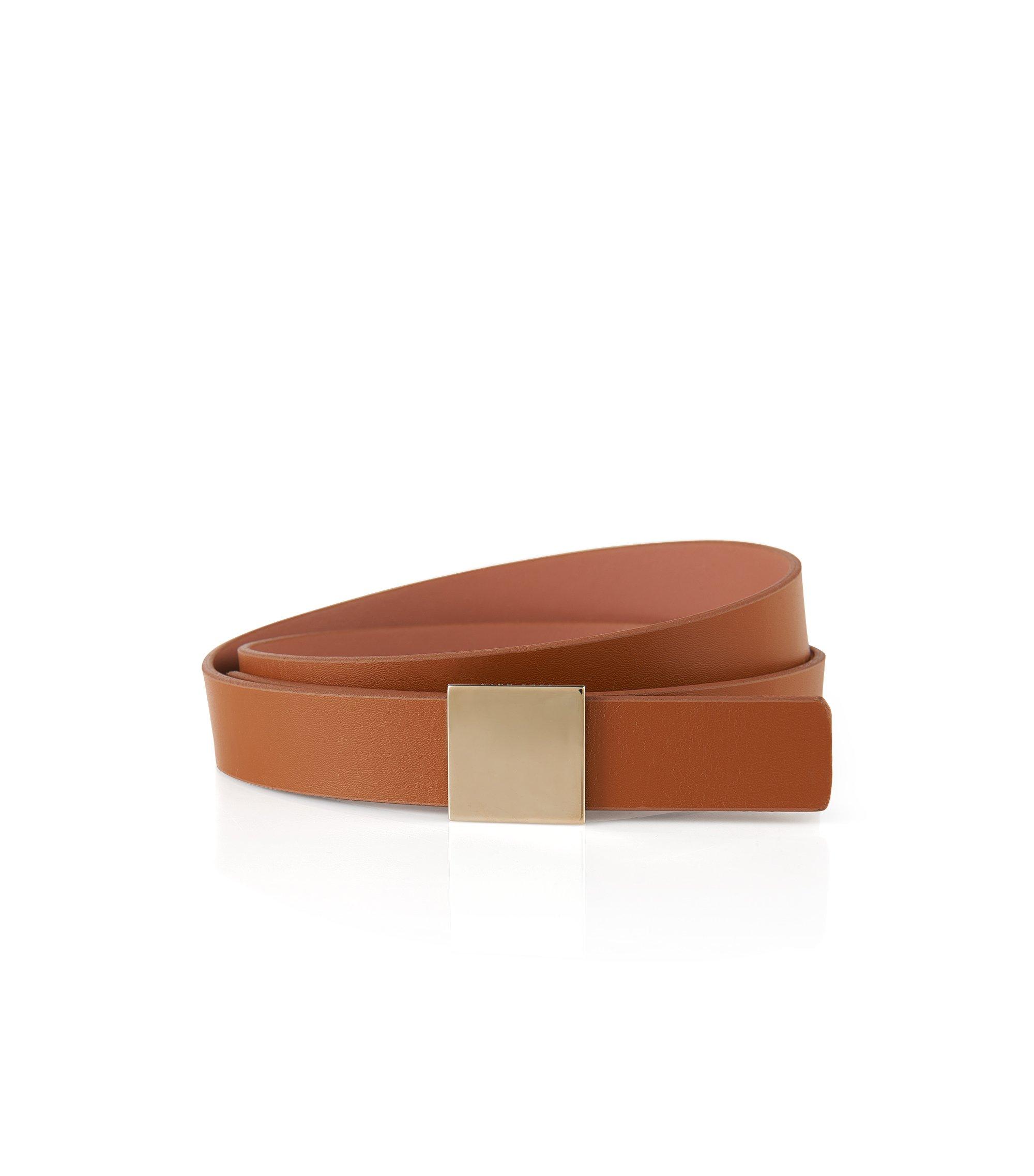 Reversible Plaque Leather Belt | Bell, Brown