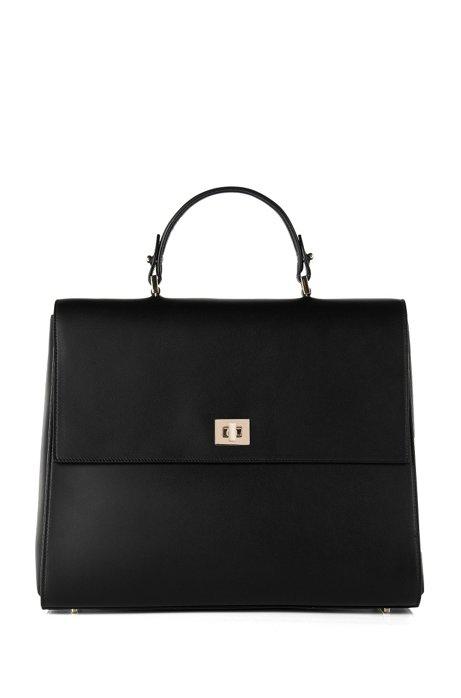 Bespoke Leather Handbag Detachable Strap Black