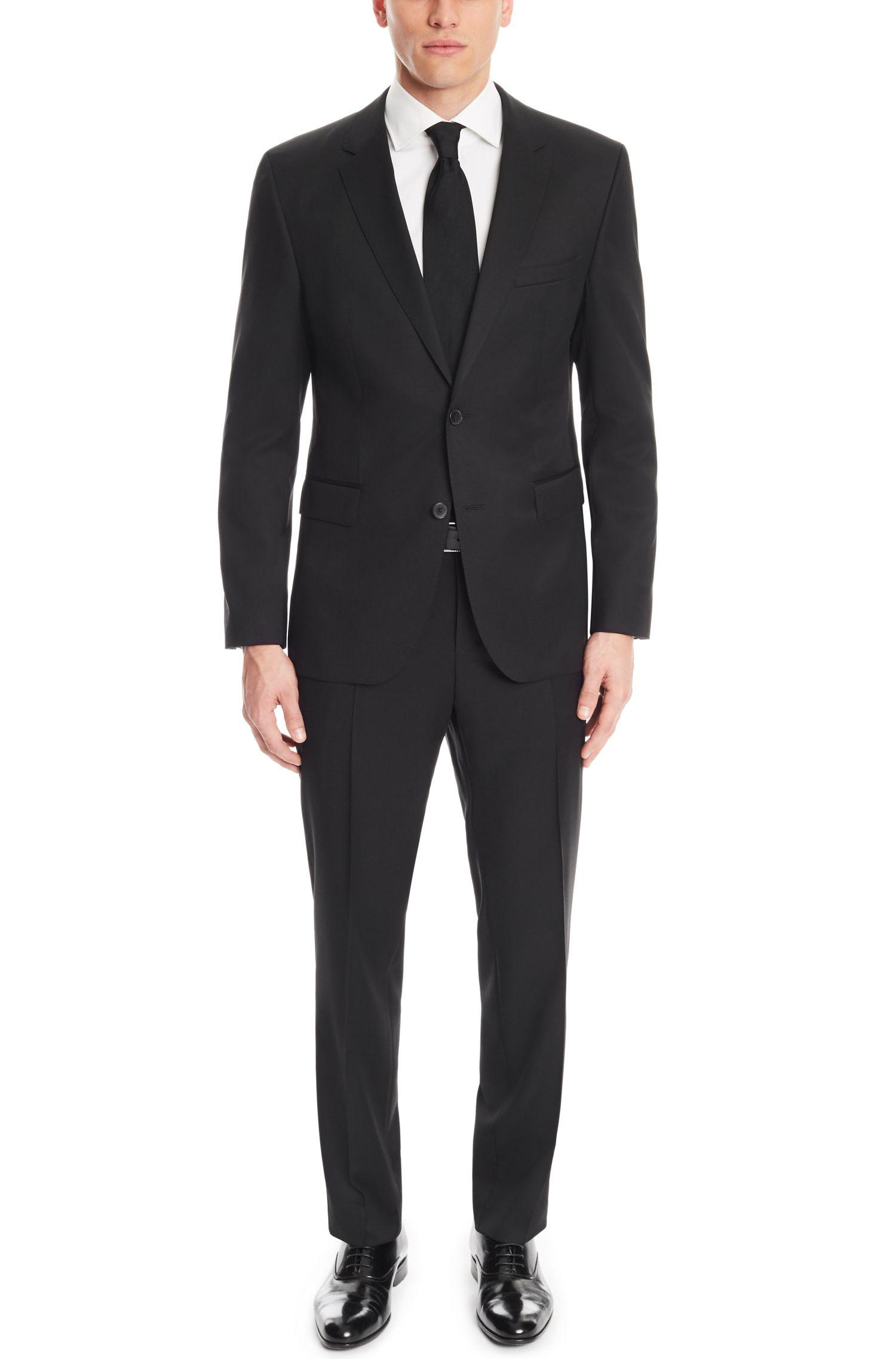 'Johnstons/Lenon' | Regular Fit, Virgin Wool Gabardine Suit