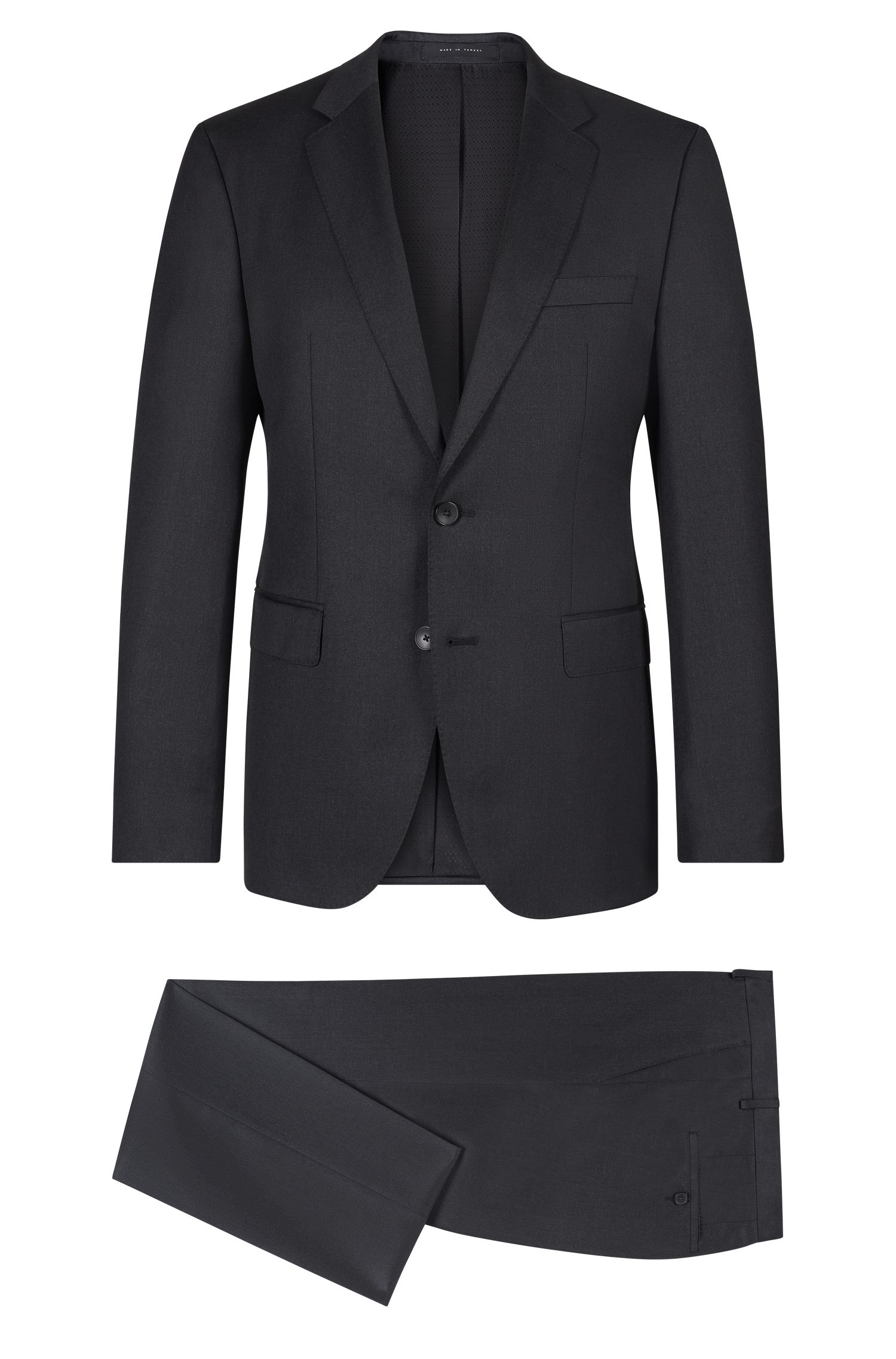Virgin Wool Gabardine Suit, Regular Fit | Johnstons/Lenon